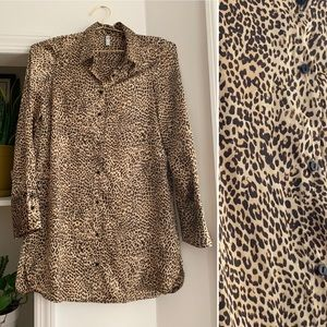 ZARA TRF Leopard Blouse Dress